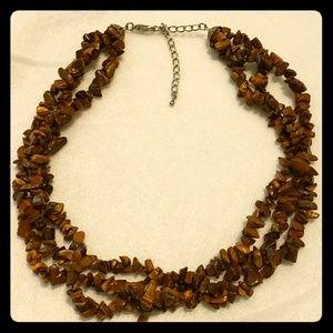 Tigers Eye Beaded necklace choker